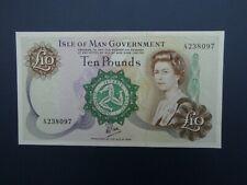 More details for nice a prefix 1979 isle of man £10 (dawson) banknote fresh original aef