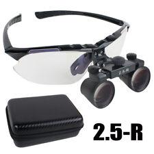 Black Dental Surgical Medical Binocular Loupes 2.5X R(360~580mm) Adjustable Case
