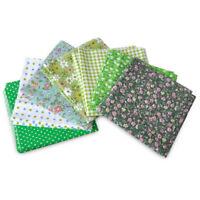 7X Grün Serie Stoffpaket Baumwolle Stoffreste Patchworkstoffe Cotton Fabric 50cm