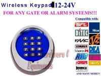 12/24V Universal Wireless Keypad 433.92MH Gate Openers BFT, Nice Apollo, FAAC