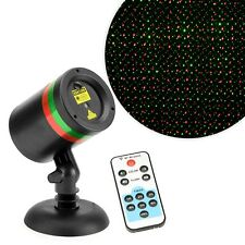 Christmas Laser Light Projector Moving Pattern Outdoor Lamp Timer Remote Control