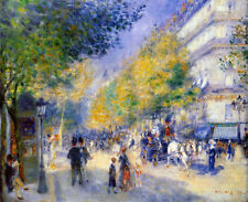 The Great Boulevards  by Pierre-Auguste Renoir Giclee Fine Art Print on Canvas