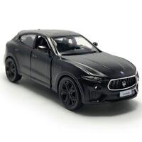 1:36 Maserati Levante GTS SUV Model Car Diecast Toy Vehicle Pull Back Black Gift