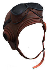 Rubber Biggles Helmet Ww1 Pilot Captain Fighter Plane Fancy Dress