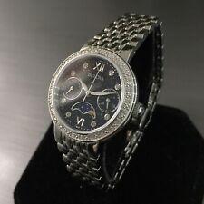 Ladies Bulova Watch Diamonds GALLERY 96W210 Steel Moon Phase Twin Date Genuine