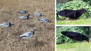 SILLOSOCKS  PIGEON AND CROW COMBO 12 PIGEON DECOYS 6 CROW DECOYS