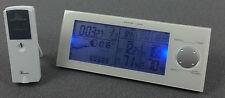 Funk Wetterstation  Thermometer Digital Wecker Uhr Außensensor GT-WS-01w Weiß