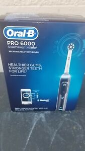 Oral-B PRO 6000 SmartSeries Rechargeable Toothbrush - Black/White (Sealed)