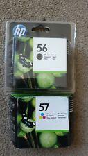 Genuine HP 56 Black &  HP 57 Tri-Colour C6656A + C6657A Ink Cartridges HP56 HP57