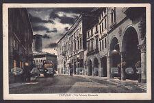 TREVISO CITTÀ 85 TRAM - NOTTURNO Cartolina viaggiata 1928