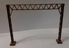 Laser Cut OO/HO Model Railway Catenary Gantry Kits 120mm Twin Track Pack of 10