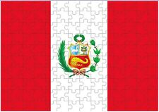 Peru Flag A4 JIGSAW Puzzle Birthday Christmas Gift (Can Be Personalised