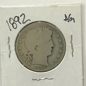1892 Barber Silver Half Dollar First Year of Issue    E8508