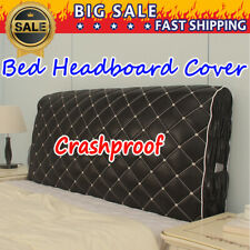 PU Leather Crashproof Bed Headboard Slip Cover Protector Queen King Size Bedroom