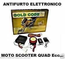 KIT ANTIFURTO ELETTRONICO MOTO/SCOOTER/QUAD 2 TELECOMANDI + 1 SIRENA DA 125 Db