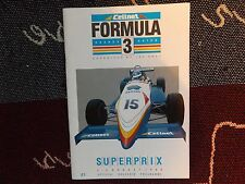 1986 BRANDS HATCH PROGRAMME 3/8/86 - CELLNET FORMULA 3 SUPERPRIX