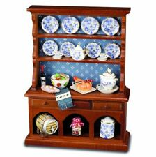Kitchen Buffet with Blue Onion Plates by Reutter Porcelain