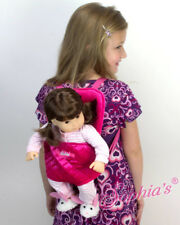 Doll Carrier Hands Free Sophia's Hot Pink Quilted Fits 18 American Girl Dolls