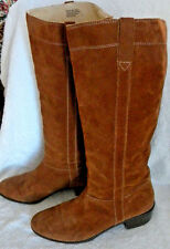 Michel Kors Chesnut Brown Suede Pull On High Boots Women's Size 8.5