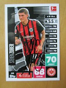 Match Attax Steven Zuber Eintracht Frankfurt 2020/21 INPERSON signiert 20/21