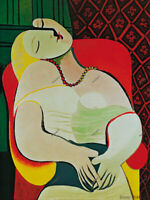 Pablo Picasso Spanish Artist Oil Painting on Canvas The Dreamer 30x40