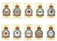 1937 RAF Badges Royal Air Force Insignia Players Tobacco Set 50 cards moto backs