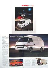 BEDFORD MIDI furgoni e minibus 1988-89 vendita ORIGINALE opuscolo PUB. NO. B3044