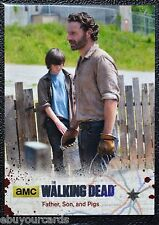 Walking Dead Season 4 Silver Numbered Parallel Base Trading Card #02 77/99