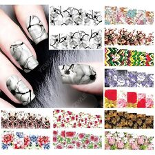 12 sheets beauty water transfer nail art stickers decals nails decorations A7384