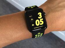 Genuine Apple Watch Nike Sport Band Strap Nike BLACK / VOLT 40mm 38mm S/M & M/L