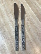 Riviera Monterey Stainless Flatware Silverware Place Dinner Knives Set of 2