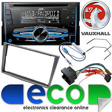 Vauxhall Signum 2005 On JVC CD MP3 USB Aux Car Stereo & Grey Fascia Fittting Kit