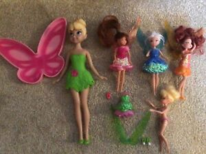 Disney tinker-belle figures x 4 including periwinkle & Rosetta