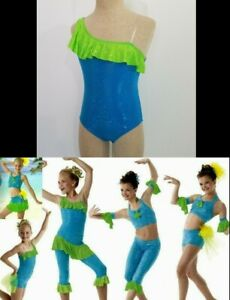 Rio Dance Costume LEOTARD ONLY Mix and Match Turquoise/Green New Adult XX-Large