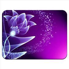 Purple & Magenta Flower Elegant Pattern Premium Quality Thick Rubber Mouse Mat