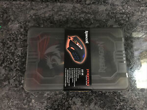New Redragon M901-2 Perdition3 12400DPI MMO LED RGB Wired Gaming Mouse Black