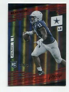 Micah Parsons 2021 Panini Prestige #244 Xtra Points Red Rookie RC /299 Cowboys
