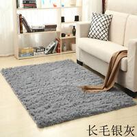 Anti-Skid Fluffy Rug Shaggy Area Living Bed Room Bedroom Modern Carpet Floor Mat