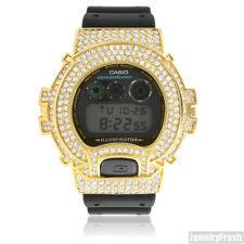 Gold Finish Simulated Diamonds G Shock DW-6900