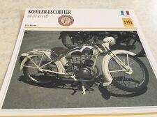 Fiche moto collection atlas motorcycle Koehler Escoffier 100 KS 3 GD 1951