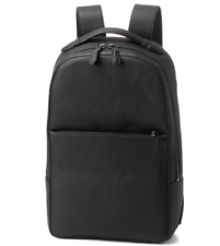 NEW COACH Red Edge Solid Laptop Black Pebbled Leather Backpack Travel Rucksack