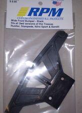 RPM Wide Front  Bumper Black Rustler Stampede Bandit 81162  NEW NIP