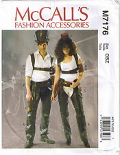 Steampunk Victorian Gothic Chaps Harness Holster Top Hat Costume Sewing Pattern