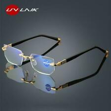 Anti blue Light Reading Glasses Women Diamond cutting Rimeles Eyeglasses Men Ant