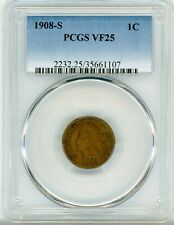 1908 Indian Head Cent 1C Very Fine Condition PCGS VF 25