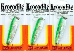 (LOT OF 3) LUHR JENSEN KROCODILE 1OZ 1003-100-1146 LIVE IMAGE NEO GREEN BR1305
