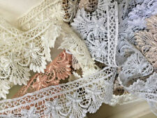 LACE 11.5CM/'S WIDE OFF WHITE//CREAM CROCHET TASSEL TRIM SOLD PER METRE