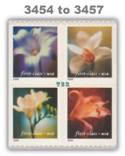 3454-57 3457a First Class (34) Flowers Block 8 Double-Sided Pane MNH - Buy Now