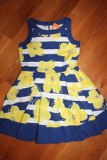 NWT Gymboree Pocketful of Sunshine Size 7 Blue Striped Yellow Flower Dress