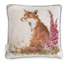 Wrendale Designs Fox Cushion 'Foxgloves' Illustrated by Hannah Dale, 40 x 40cm